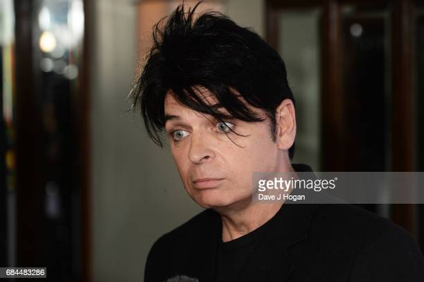 Gary Numan poses in the winners room at the Ivor Novello Awards at Grosvenor House on May 18 2017 in London England