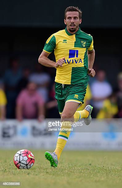 Gary O' Neil of Norwich City in action during the pre season friendly match between Gorleston and Norwich City at Gorleston football and social club...