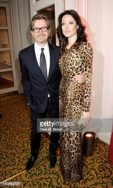 Gary Oldman and Alexandra Edenborough arrive at the Jameson Empire Awards at Grosvenor House on March 25 2012 in London England