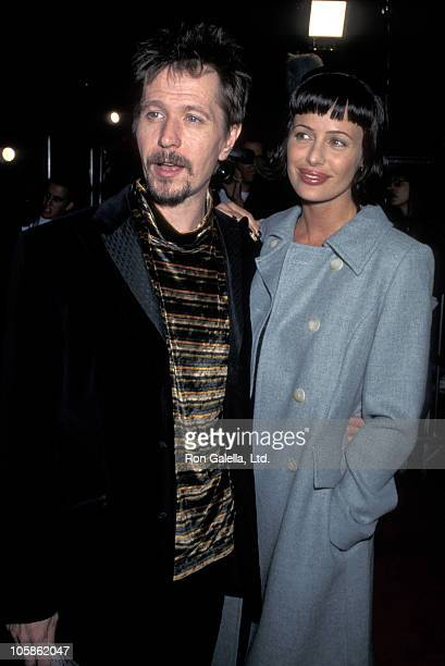 Gary Oldman and Donya Oldman during 'Alien Resurrection' Los Angeles Premiere at Mann Village Theatre in Westwood California United States