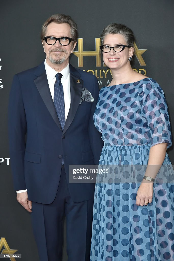 Gary Oldman and Gisele Schmidt attend the 21st Annual Hollywood Film Awards - Arrivals on November 5, 2017 in Beverly Hills, California.