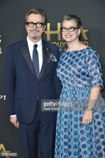 Gary Oldman and Gisele Schmidt attend the 21st Annual Hollywood Film Awards Arrivals on November 5 2017 in Beverly Hills California