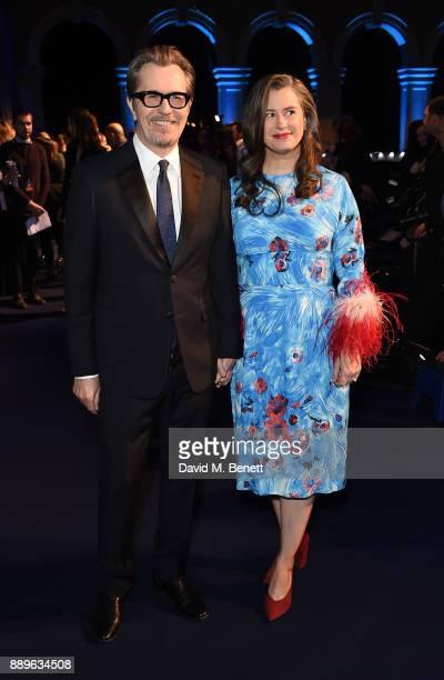 Gary Oldman and Gisele Schmidt attend the British Independent Film Awards held at Old Billingsgate on December 10 2017 in London England