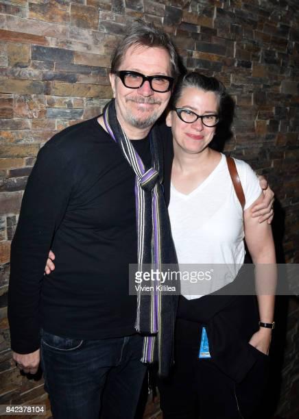Gary Oldman and Gisele Schmidt attend the Telluride Film Festival 2017 on September 2 2017 in Telluride Colorado