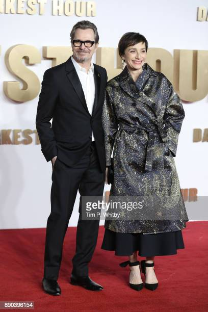 Gary Oldman and Kristin Scott Thomas attend the 'Darkest hour' UK premeire at Odeon Leicester Square on December 11 2017 in London England