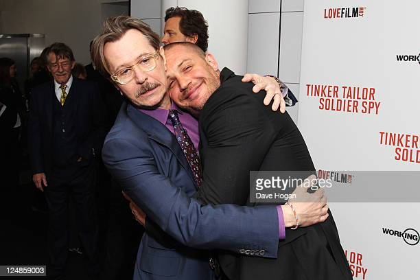 Gary Oldman and Tom Hardy attend the UK premiere of Tinker Tailor Soldier Spy at The BFI Southbank on September 13 2011 in London United Kingdom