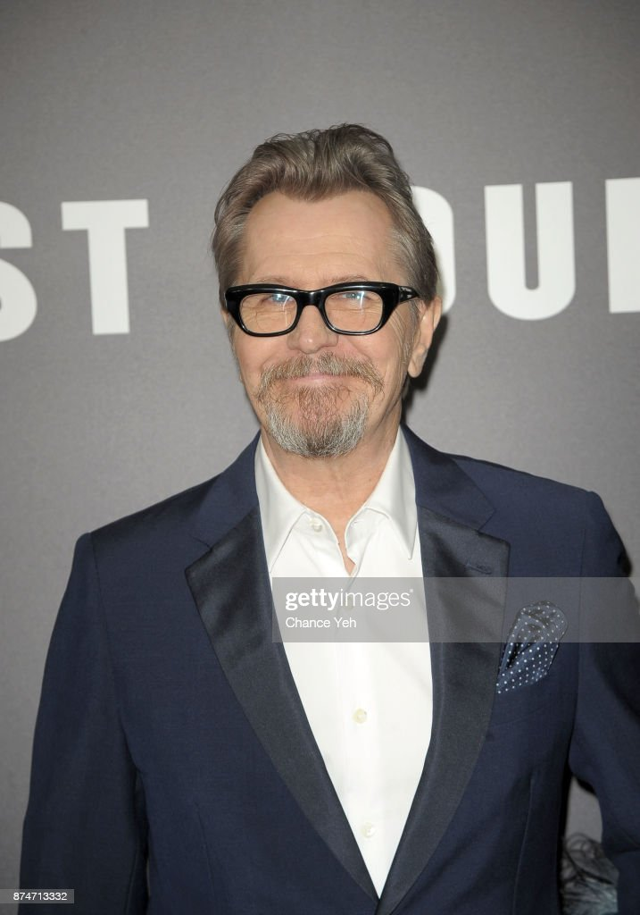 Gary Oldman attends 'Darkest Hour' New York premiere at Paris Theatre on November 15, 2017 in New York City.