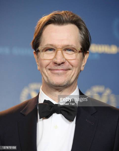 Gary Oldman attends the 64th Annual DGA Awards press room held at the Grand Ballroom at Hollywood Highland Center on January 28 2012 in Hollywood...