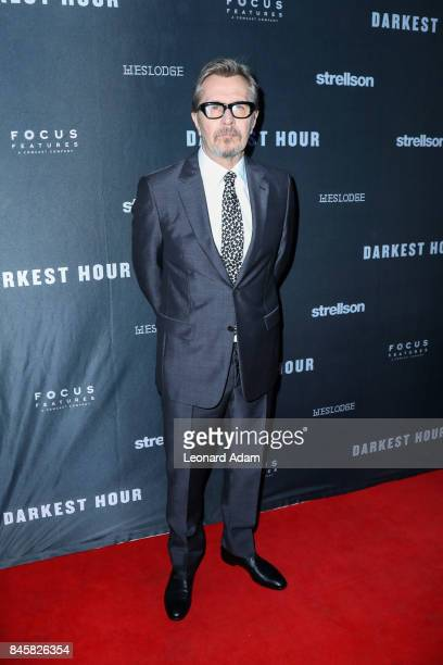 Gary Oldman attends the 'Darkest Hour' official film festival premiere party presented by Focus Features and Strellson at Westlodge Toronto on...