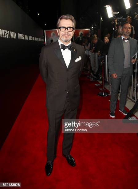 Gary Oldman attends the premiere of Focus Features 'Darkest Hour' at Samuel Goldwyn Theater on November 8 2017 in Beverly Hills California