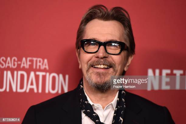 Gary Oldman attends the SAGAFTRA Foundation Patron of the Artists Awards 2017 at the Wallis Annenberg Center for the Performing Arts on November 9...