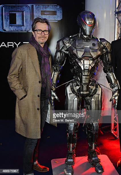 Gary Oldman attends the World Premiere of 'RoboCop' at the BFI IMAX on February 5 2014 in London England
