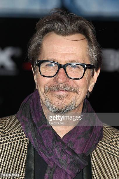 Gary Oldman attends the world premiere of 'RoboCop Reboot' at BFI IMAX on February 5 2014 in London England
