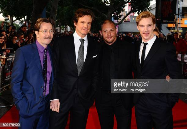 Gary Oldman Colin Firth Tom Hardy and Benedict Cumberbatch arriving for the UK premiere of Tinker Tailor Soldier Spy at the BFI Southbank Belvedere...