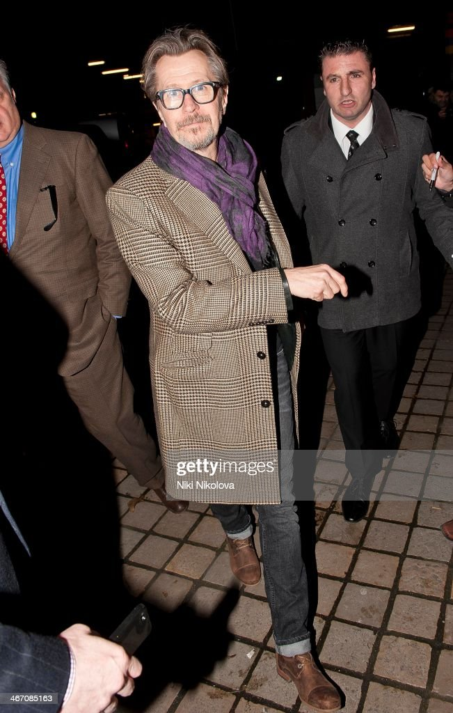 <a gi-track='captionPersonalityLinkClicked' href=/galleries/search?phrase=Gary+Oldman&family=editorial&specificpeople=213839 ng-click='$event.stopPropagation()'>Gary Oldman</a> is seen leaving the Royal Festival Hall, South Bank on February 5, 2014 in London, England.