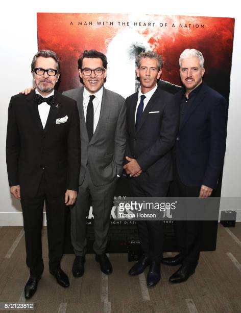 Gary Oldman Joe Wright Ben Mendelsohn and Anthony McCarten attend the premiere of Focus Features 'Darkest Hour' after party on November 8 2017 in...