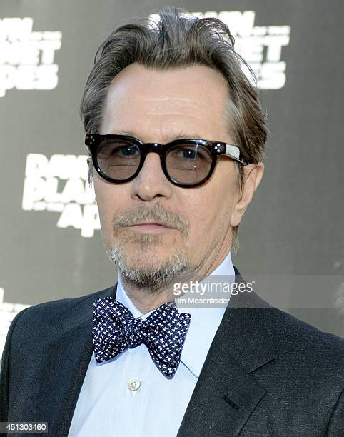 Gary Oldman poses at the premiere of 20th Century Fox's 'Dawn of the Planet of the Apes' at the Palace Of Fine Arts Theater on June 26 2014 in San...
