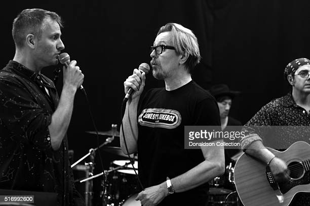 Gary Oldman rehearses for a David Bowie tribute at Mate's Rehearsal Studios on his birthday March 212016 in Los Angeles California