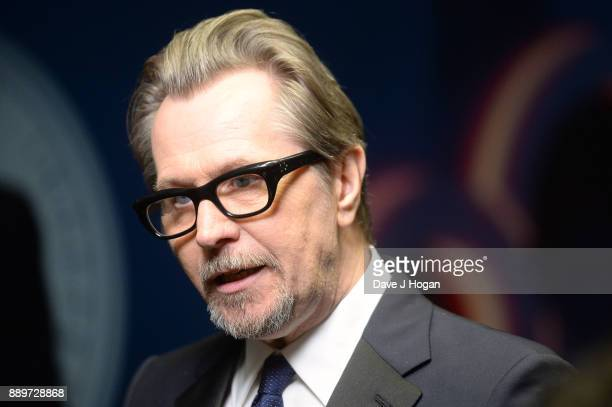 Gary Oldman winner of The Variety Award in the winners room at the British Independent Film Awards held at Old Billingsgate on December 10 2017 in...