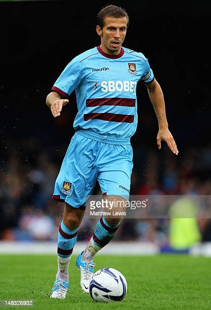 Gary O'Neill of West Ham United in action during the PreSeason Friendly match between Southend United and West Ham United at Roots Hall on July 14...