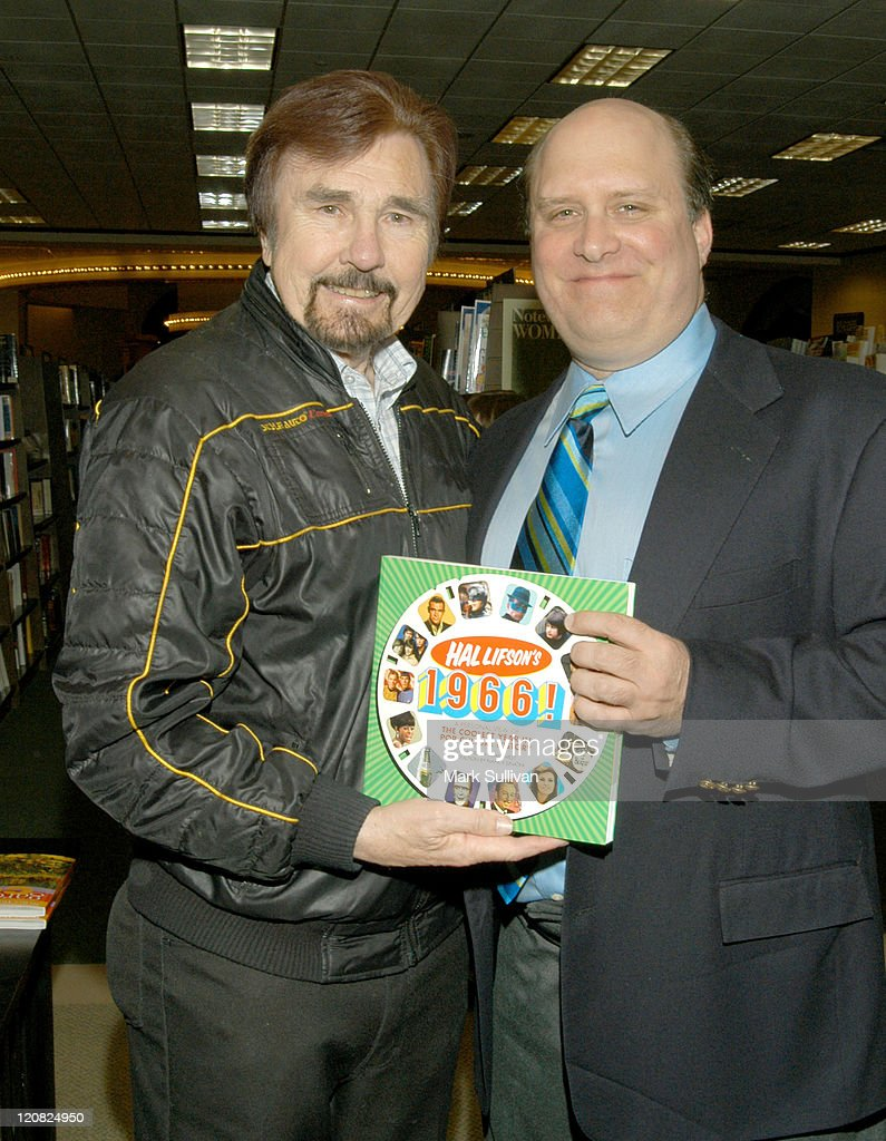 Gary Owens and Hal Lifson during 'Hal Lifson's 1966' Book And CD Signing at Barnes And Noble Book Store in Encino California United States