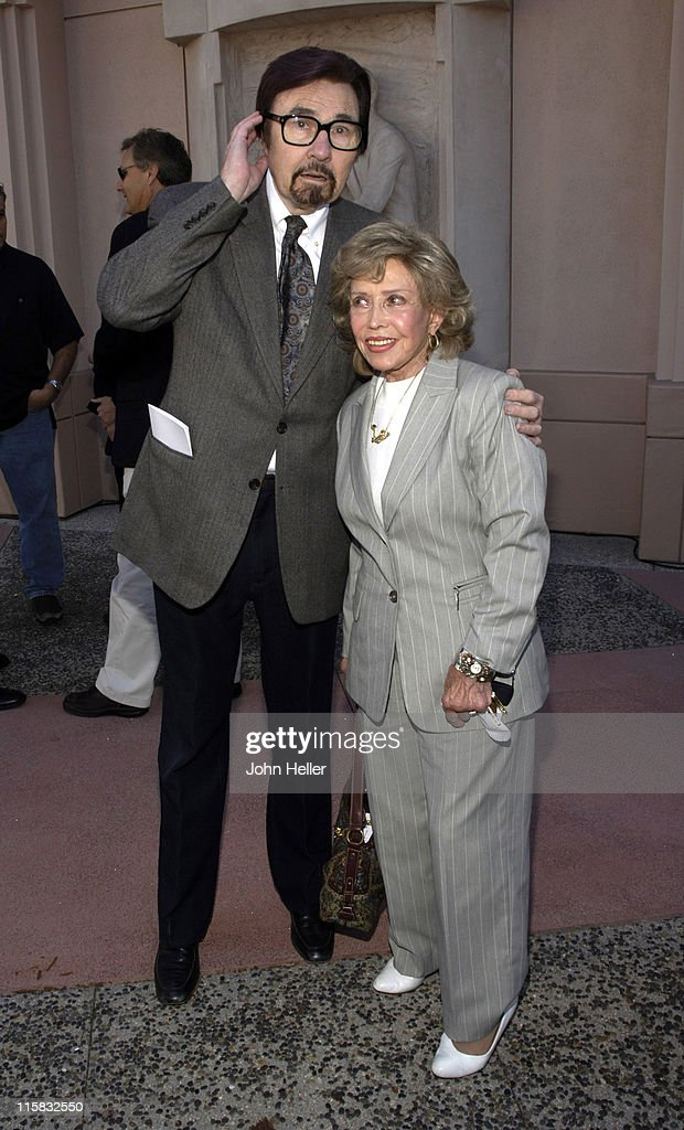 Gary Owens and June Foray during HannaBarbera Wall Sculpture Unveiled at the Academy of Television Arts and Sciences at Academy of Television Arts...