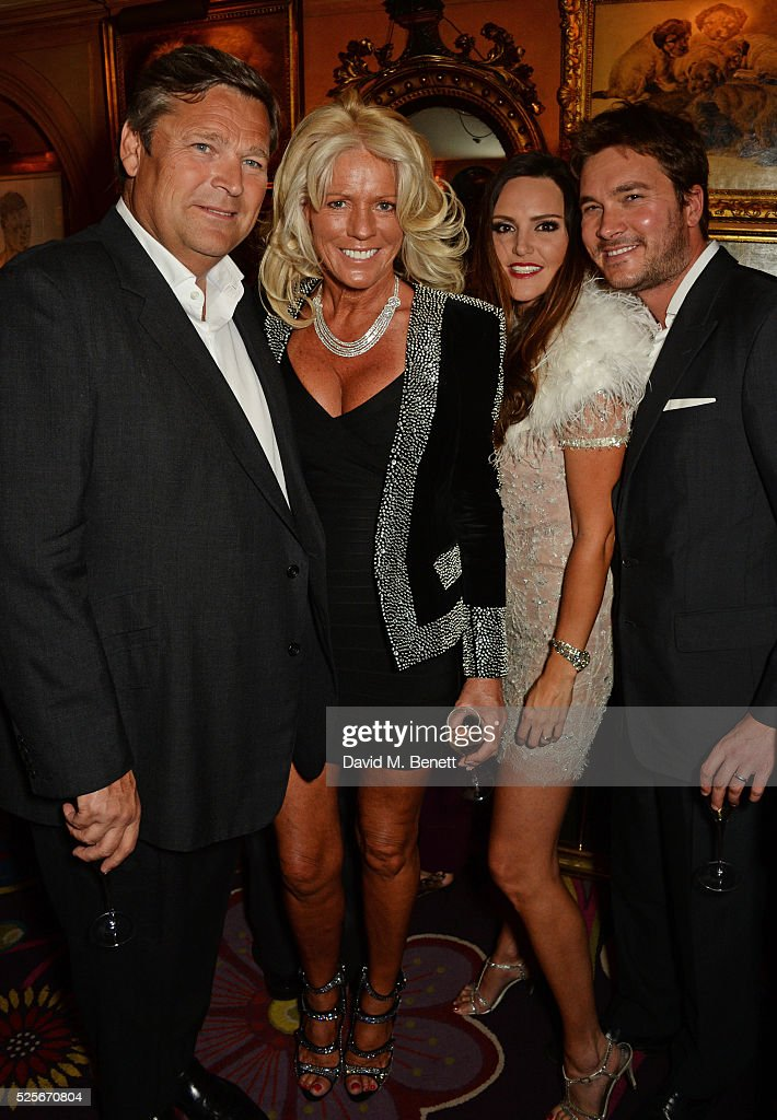 Gary Pask, Sharon Pask, Elle Caring and Ben Caring attend a private dinner hosted by Fawaz Gruosi, founder of de Grisogono, at Annabels on April 28, 2016 in London, England.