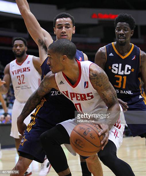 Gary Payton II of the Rio Grande Valley Vipers handles the ball against the Salt Lake City Stars on December 5 2016 at the State Farm Arena in...