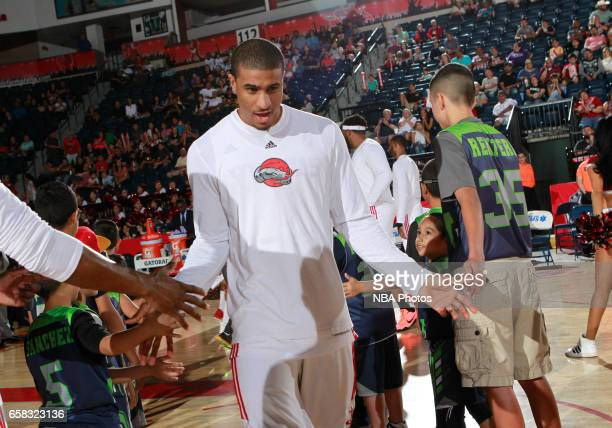 Gary Payton II of the Rio Grande Valley Vipers is introduced before the start of the game against the Salt Lake City Stars at the State Farm Arena...