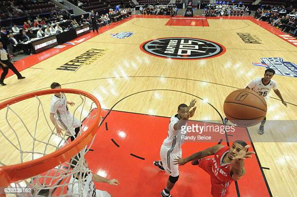 Gary Payton II of the Rio Grande Valley Vipers shoots the ball during a game against the Austin Spurs as part of 2017 NBA DLeague Showcase at the...