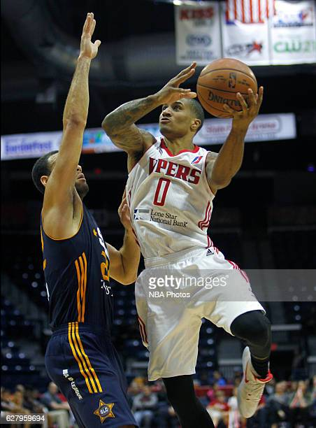 Gary Payton II of the Rio Grande Valley Vipers shoots the ball against the Salt Lake City Stars on December 5 2016 at the State Farm Arena in Hidalgo...