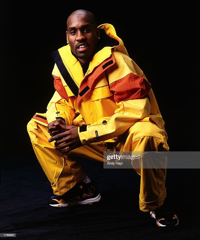 Gary Payton #20 of the Seattle SuperSonics poses for a portrait during the NBA All-Star Weekend on February 7, 1998 in New York City, New York.