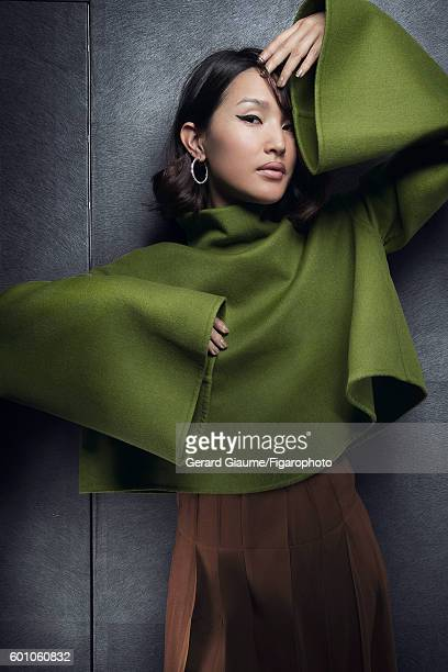 Gary Pepper Girl blogger Nicole Warne is photographed for Madame Figaro on May 13 2016 in Cannes France Sweater skirt earring PUBLISHED IMAGE CREDIT...
