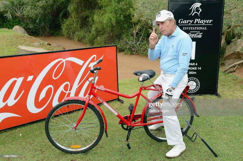 Gary Player during the Pro-Am of the Gary Player Invitational presented by Coca-Cola at The Lost City Golf Course on November 15, 2013 in Sun City, South Africa.
