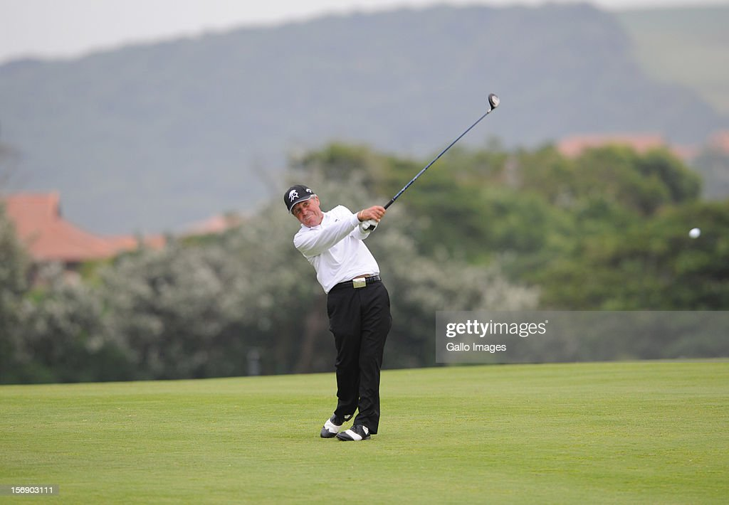 Gary Player in action during Round 1of the Gary Player Invitational Tournament presented by Coca Cola from Zimbali Coastal Resort on November 24, 2012 in KwaZulu Natal, South Africa.