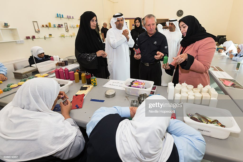 <a gi-track='captionPersonalityLinkClicked' href=/galleries/search?phrase=Gary+Player&family=editorial&specificpeople=203189 ng-click='$event.stopPropagation()'>Gary Player</a> meets children and staff from the Zayed Higher Organisation, with Zayed Higher Organisation's Secretary General, Mohamed Al Hameli, on February 7, 2016 in Abu Dhabi, United Arab Emirates.