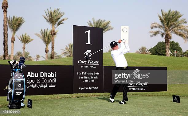 Gary Player of South Africa is pictured at the launch of the Gary Player Invitational UAE at Saadiyat Beach Golf Club on October 5 2015 in Abu Dhabi...