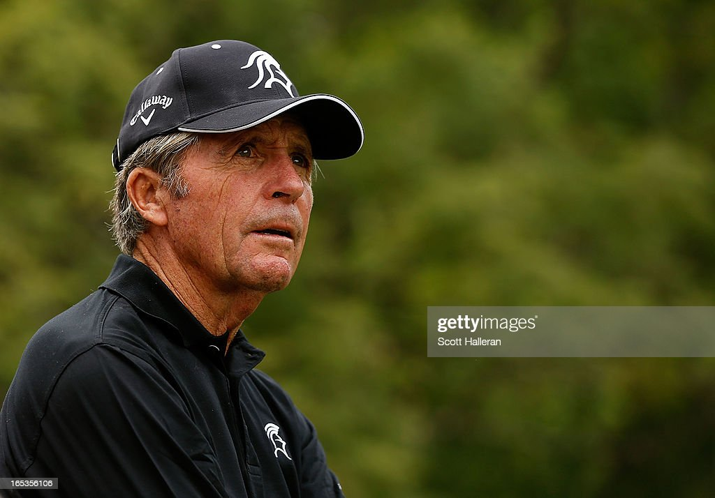 <a gi-track='captionPersonalityLinkClicked' href=/galleries/search?phrase=Gary+Player&family=editorial&specificpeople=203189 ng-click='$event.stopPropagation()'>Gary Player</a> of South Africa waits on a tee box during the pro-am at the Sao Paulo Golf Club prior to the start of the Brasil Classic Presented by HSBC on April 3, 2013 in Sao Paulo, Brazil.