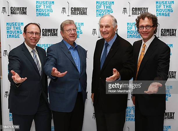 Gary Podell Jeff Greenfield Actor Alan Alda and Jeff Pancer attend Iconic Characters Of Comedy Series 'MASH' at Museum of Moving Image on October 15...