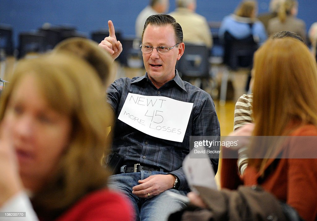 Gary Richardson attends the Republican caucus at Centennial High School on February 4, 2012 in Las Vegas, Nevada. Nevada is the first state in the West to vote as Republicans go about choosing their presidential candidate.