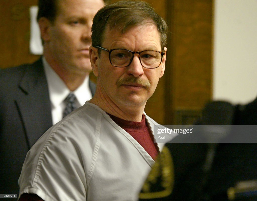 Gary Ridgway prepares to leave the courtroom where he was sentenced in King County Washington Superior Court December 18, 2003 in Seattle, Washington. Ridgway received 48 life sentences, with out the possibility of parole, for killing 48 women over the past 20 years in the Green River Killer serial murder case.