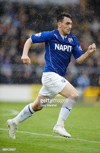 Gary Roberts of Chesterfield during the Sky Bet League Two match between Burton Albion and Chesterfield at the Pirelli Stadium on April 27 2014 in...