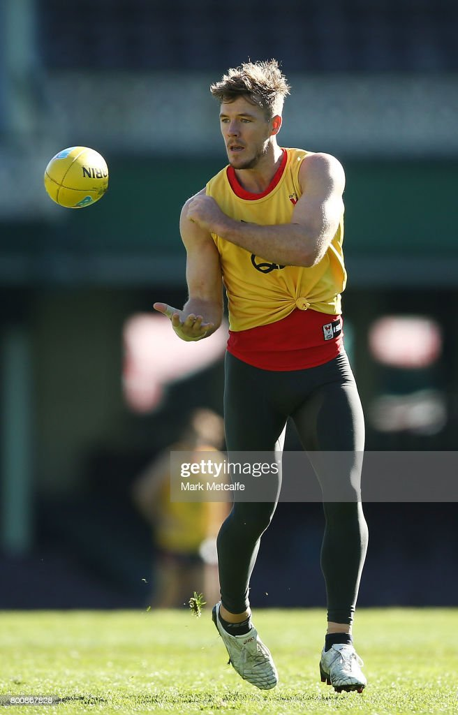 Gary Rohan of the Swans in action during a Sydney Swans AFL training session at Sydney Cricket Ground on June 26, 2017 in Sydney, Australia.