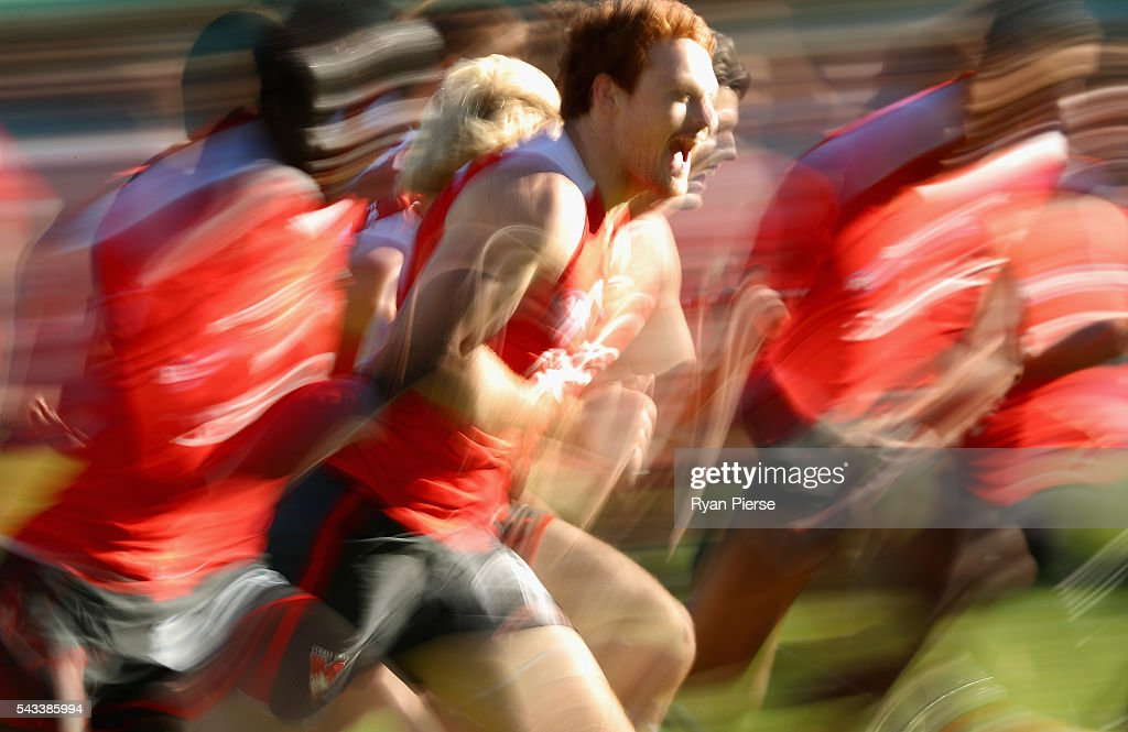 Gary Rohan of the Swans trains during a Sydney Swans AFL training session at Sydney Cricket Ground on June 28, 2016 in Sydney, Australia.