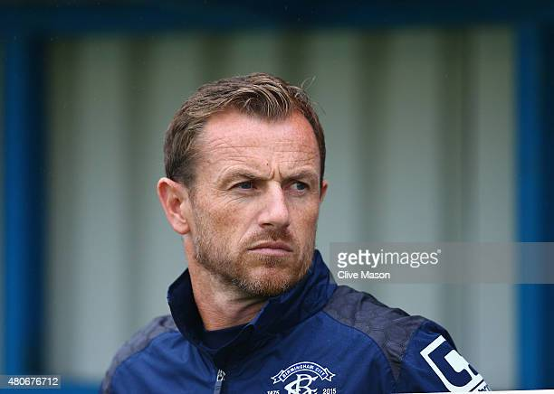 Gary Rowett of Birmingham City looks on during the pre season friendly match between Nuneaton Town and Birmingham City at the James Parnell Stadium...
