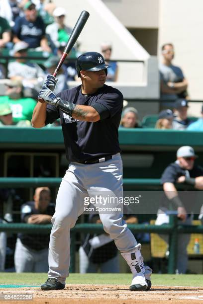 Gary Sanchez of the Yankees at bat during the spring training game between the New York Yankees and the Detroit Tigers on March 17 2017 at Joker...