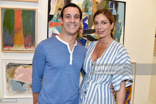 Gary Simonette and Kate Krone attend Montauk Highway Postwar Abstraction in the Hamptons at Eric Firestone Gallery on August 4 2017 in East Hampton...