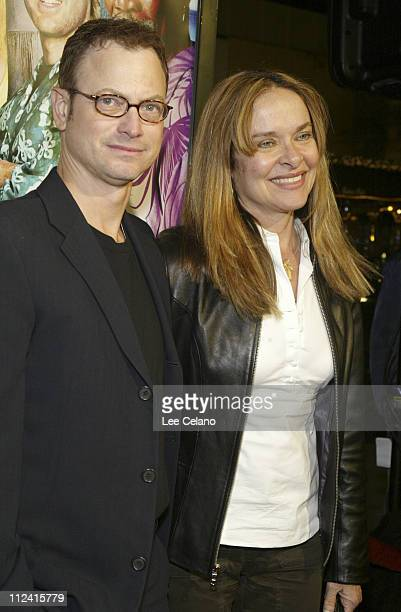 Gary Sinise and wife Moira Harris during 'The Big Bounce' Los Angeles Premiere Red Carpet at Mann Village Westwood in Westwood California United...