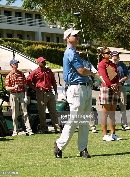 Gary Sinise during Greater Los Angeles Area USO Celebrity Golf Tournament at Braemar Country Club in Tarzana California United States