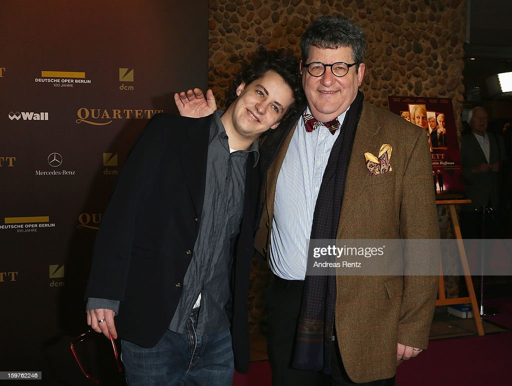 Gary Smith and his son Aaron attend the premiere of 'Quartet' at Deutsche Oper on January 20, 2013 in Berlin, Germany.